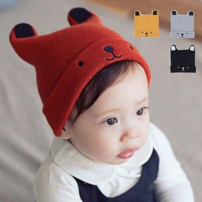 帽子 小熊 寶寶 針織 帽子 兒童帽