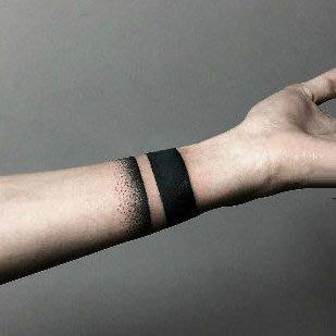 【萌古屋】點點粗線條環形圖 - 防水紋身貼紙手臂腳踝環形刺青貼紙A69 K72