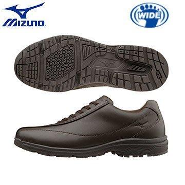 日本 美津濃 MIZUNO LD40WAVE  IV 第4代 人氣寬楦 健走鞋 舒適 透氣 真皮 皮鞋 棕色【足順皮鞋】