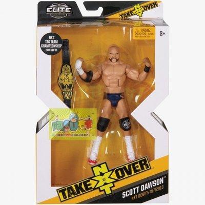 ☆阿Su倉庫☆WWE摔角 Scott Dawson NXT Takeover Elite Figure 限定款精華版人偶