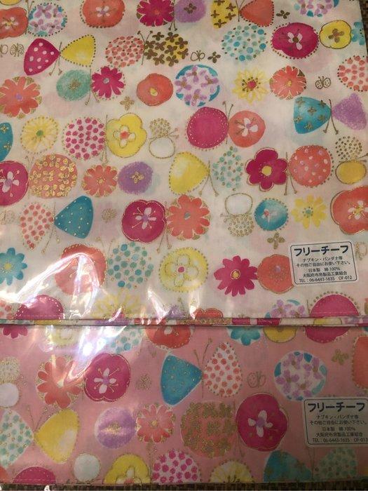 日式花様綿布手帕