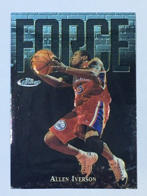1997-98 Topps Finest Uncommon Embossed Silver Allen Iverson