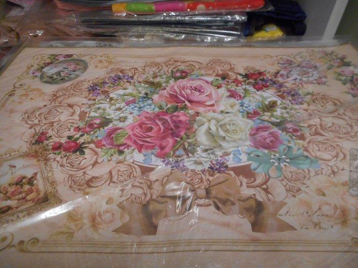 ~~凡爾賽生活精品~~全新日本進口玫瑰花蝴蝶結造型防水餐墊.小桌墊~日本製