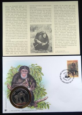 WWF30Years黑猩猩 Chimpanzee限量紀念幣Commemorative Coin特價