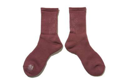 "[ LAB Taipei ] MY LOADS ARE LIGHT ""LETTERED SOCKS (Rose)"""