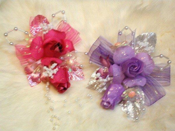 B. & W. world ***美美的花飾*R13157***絹布6色花苞玫瑰花飾~*結婚、喜慶、頭花、胸花*