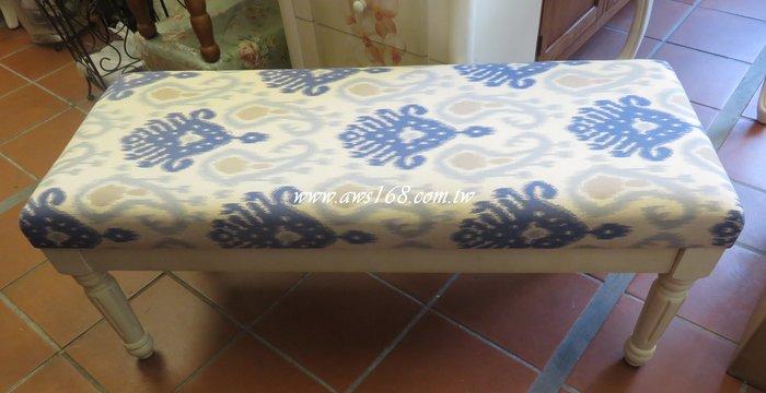 鄉村美式 刷舊床尾椅