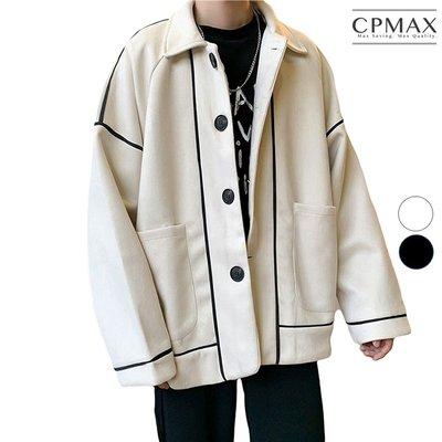 CPMAX 毛呢休閒復古西裝外套 oversize網紅小西裝外套 男西裝外套 休閒西裝 外套 西裝 毛呢外套 E17