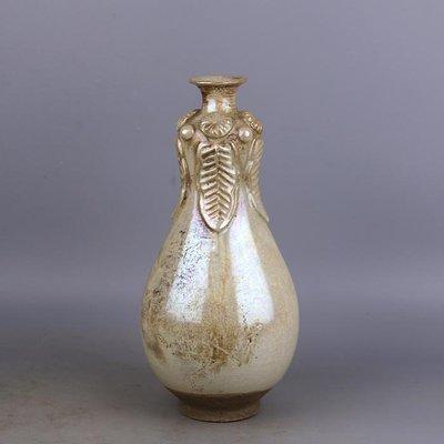 【三顧茅廬 】唐代銀光窯金銀釉堆菊花葫蘆瓶 出土文物古瓷器手工古玩古董收藏