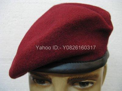 棗紅色 靚帽型 軟帽 - 合深資童軍 - 真皮邊 - 有尾繩可縮放至 英碼57-59cm - 內外完好 倉底 當二手貨