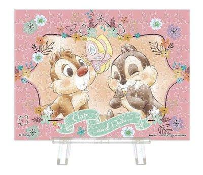 日本進口拼圖 迪士尼 奇奇 蒂蒂 花栗鼠 Chip 'n' Dale 150片迷你透明塑膠拼圖 2308-08