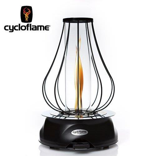 丹大戶外【Cycloflame】Cycloflame mini 火舞炫安全燃料氣氛情境燈 碳黑黑