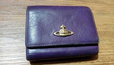 Vivienne Westwood 紫色短夾 【真品】