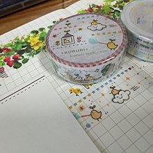 【R的雜貨舖】紙膠帶分裝 非整捲 KURURI 活力小雞