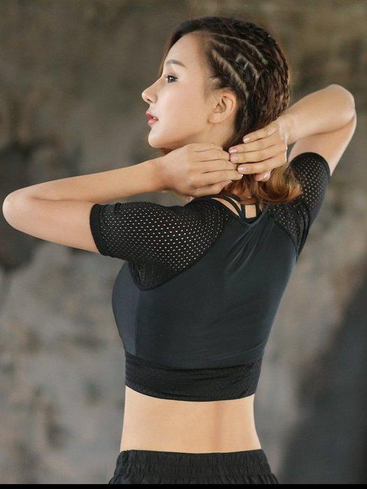 女 短袖 短版 背心 T恤 運動 訓練 瑜伽 露肚 緊身 性感 【柔依衣坊 Zoe Shop】C37-TX354