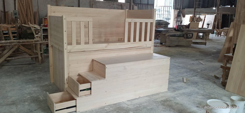設計師款 半高床 床下滑門衣櫃 梯櫃加大收納 護欄加高 耐重500公斤