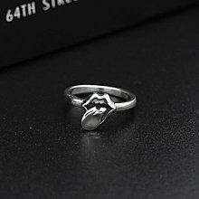 純銀精品 S925純銀戒指 歐美明星同款復古泰銀大嘴巴舌頭指環 13-19號選一 時尚潮男女必備戒指 281