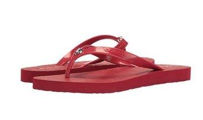 ✨✨COACH 經典C Logo 紅色 拖鞋 #