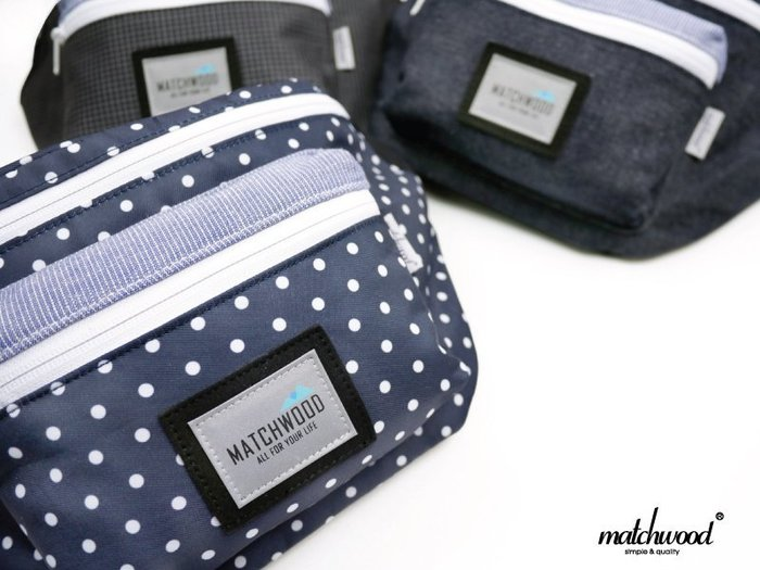 { POISON } MATCHWOODPORTABLE BAG 獨家立體設計可肩背腰包 側背包 斜背包 隨身包 圓點