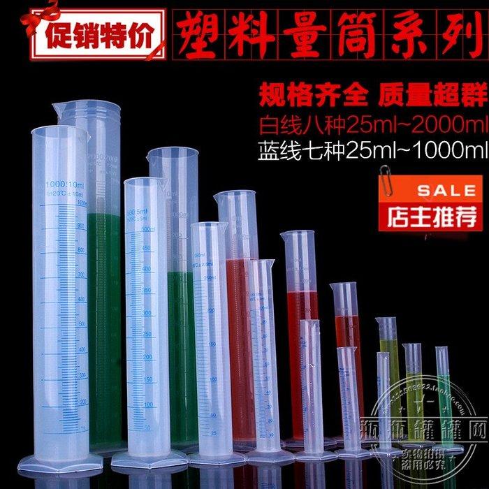 橙子的店 塑料帶刻度量筒50/10/250/500/1000/2000ml燒杯刻度杯毫升量杯