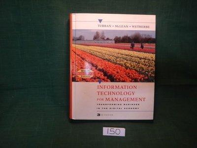 【愛悅二手書坊 12-60】Information Technology for Management ... Economy 3rd Edition