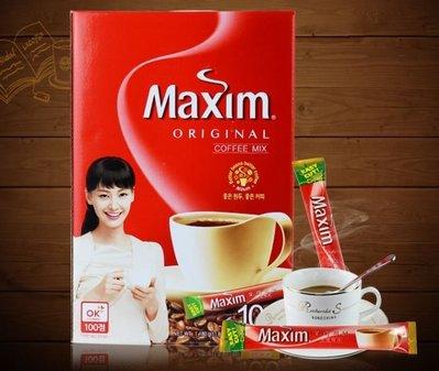 韓國超熱賣~韓國知名大廠MAXIM三合一 拿鐵 /摩卡即溶咖啡/韓國即溶咖啡/韓國咖啡~散裝20包入