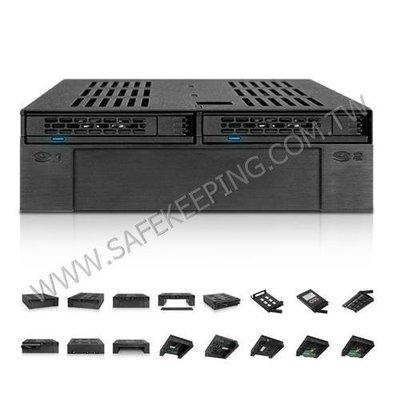 ICYDOCK MB322SP-B 中銨 可裝2.5吋與3.5 吋 HDD/SSD 硬碟SSD抽取盒