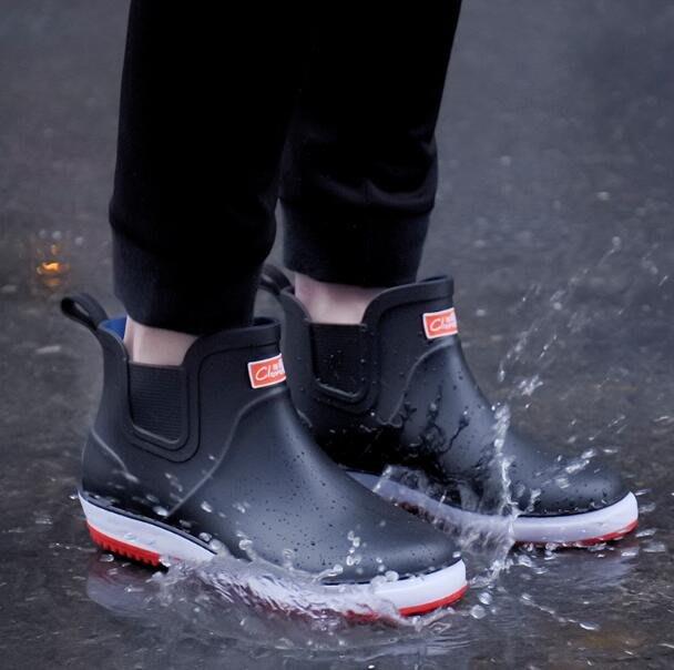 雨鞋 短筒雨靴廚房防滑洗車釣魚防水膠鞋套鞋 安全鞋—莎芭