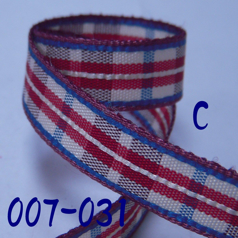 3分格子緞帶(007-031)※C款※~Jane′s Gift~Ribbon,用於裝飾.包裝及成衣配件