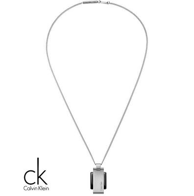 金永珍珠寶鐘錶* CK項鍊 原廠真品 invigorate啟示系列 KJ2FBP280100銀黑 情人節 生日禮物*