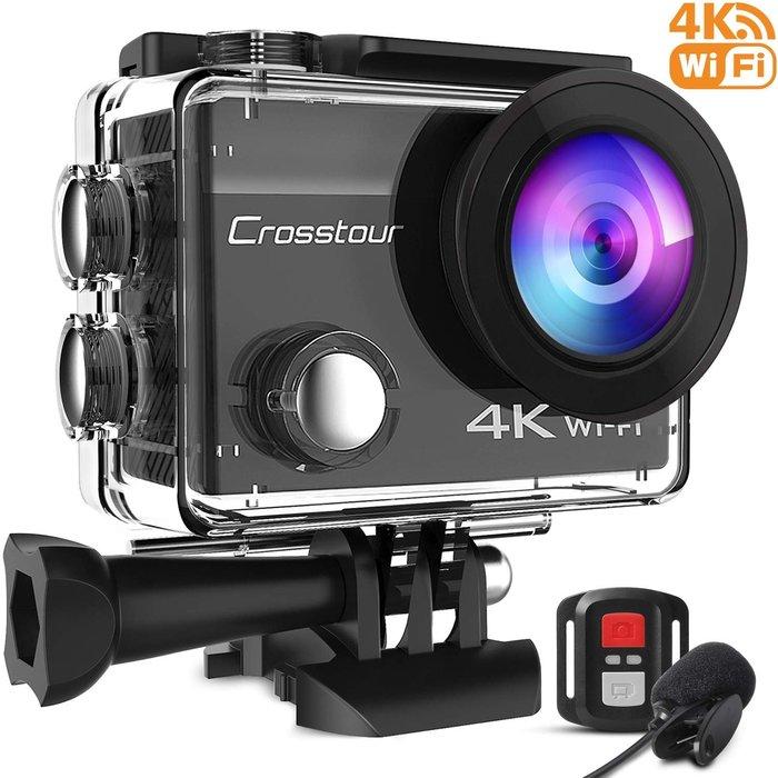 《FOS》日本 Crosstour 4K 運動 攝像機 防水 相機 拍照 錄影 登山 潛水 出國 攜帶 熱銷 新款