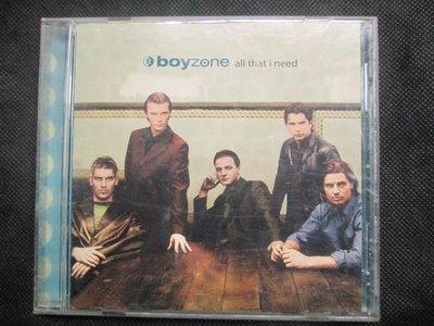 CD(正版)~Boyzone--All That I Need專輯.收錄Naver Easy等