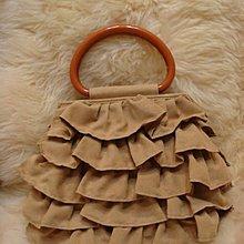 駝色絨布 蛋糕裙包造型/手提化粧包 /晚宴包/ 手腕包~全新品