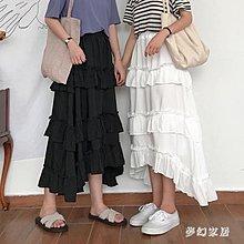 生活用品 限時特賣 中大尺碼 中長款半身裙女韓版百搭寬松高腰顯瘦長裙 zqA010