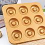 廚房大師- (加厚)金色9連空心圓模 甜甜圈 不...