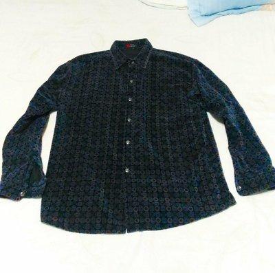 絨布長袖襯衫