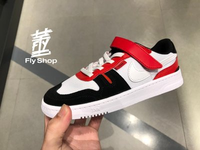[飛董] Nike Squash Type PS 魔鬼氈 運動鞋 休閒鞋 中童鞋 CJ4120 101 白黑紅