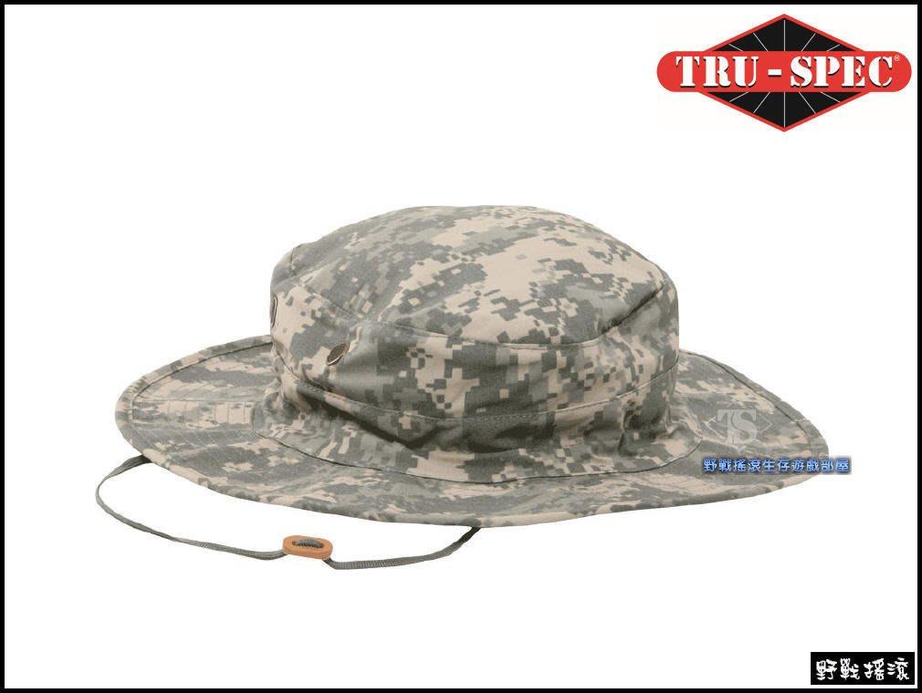 【野戰搖滾-生存遊戲】美國 TRU-SPEC 可調式戰術圓邊帽【ACU迷彩】闊邊帽圓盤帽奔尼帽漁夫帽登山帽數位迷彩軍帽