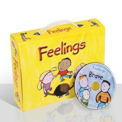 【預購】The Feelings兒童英文版繪本閱讀學習系列情緒管理12本 附CD
