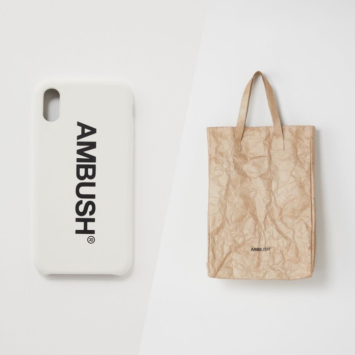 AMBUSH 現貨 iPhone X/XS 手機殼 黑白 紙袋包