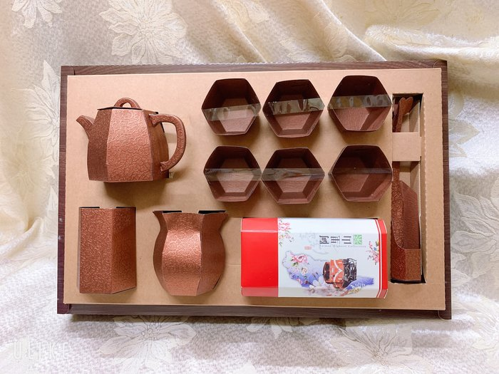 涵堯紙品     紙紮館    台製精緻茶具組