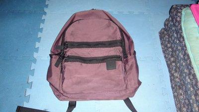 ~保證真品 Agnes b. 紫色布料款後背包 大方包 背包~便宜起標無底價標多少賣多少 台北市