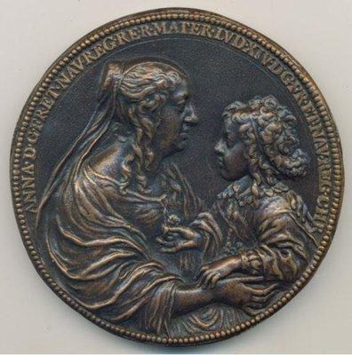 "法國銅章 1638 France Louis XIV ""Val-de-Grace"" Bronze Medal"