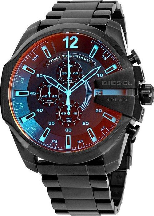 【金永珍珠寶鐘錶】實體店面*DIESEL 原廠真品 軍錶 保固 DZ4318 日期電鍍變色鋼錶 大錶徑 53MM 現貨*