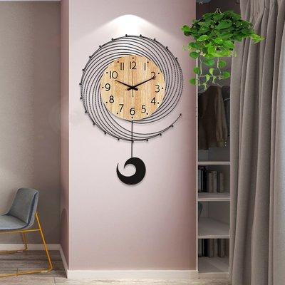 掛鐘 鬧鐘 墻壁鐘 裝飾鐘錶北歐鐘表掛鐘客廳創意時尚家用藝術掛表現代簡約大氣個性裝飾時鐘