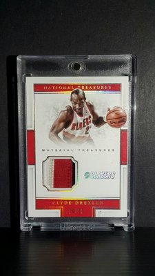 2016 Panini National Treasures Patch Jersey #38 低限量20/25 Clyde Drexler 三色Patch卡