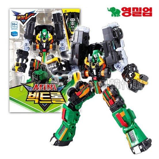 現貨 台北可自取【Hsin】韓國境內版 機器戰士TOBOT V迷你綠色卡車 黑色拖板車 合體組合/合體機器人/卡通玩具