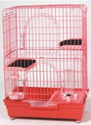 e世代皇冠三層精緻貓籠3層貓屋847貓籠全配附2層跳板二層跳板+自動飲水器+自動餵食器+貓砂盆+砂鏟+滾輪
