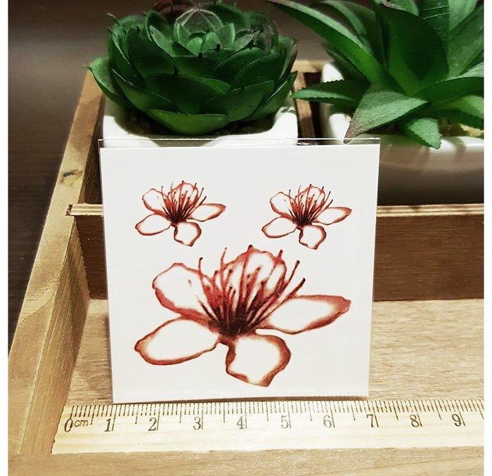 【萌古屋】L系列花朵 - 男女防水紋身貼紙刺青貼紙K31