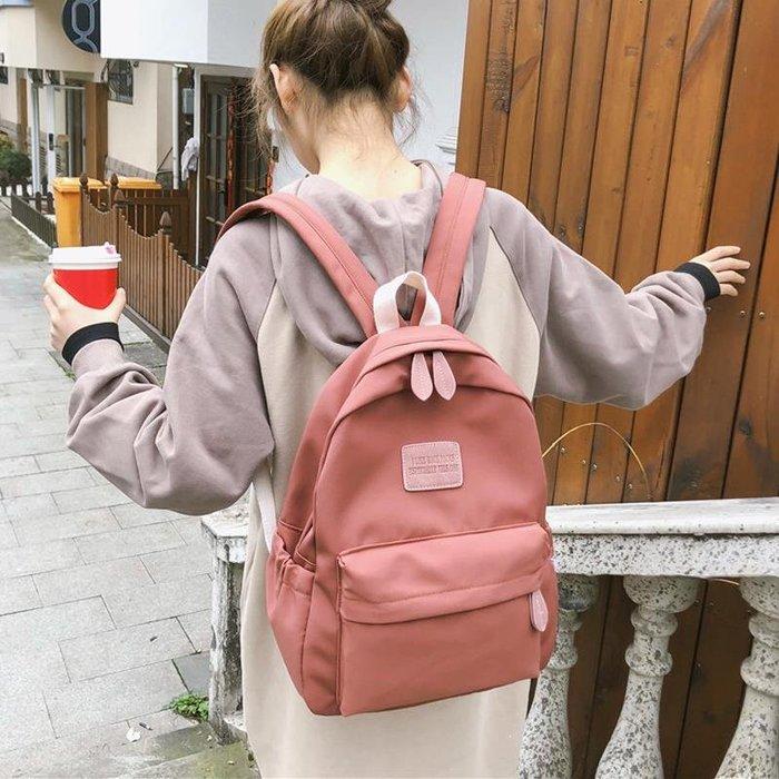 少女雙肩包帆布女新款大學生書包女韓版高中高背原宿ulzzang